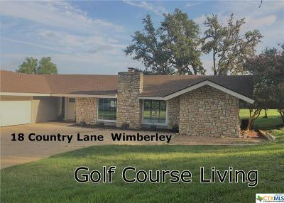 Wimberley Single Family Home For Sale: 18 Country