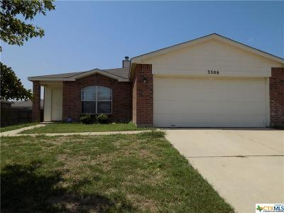 Killeen TX Single Family Home For Sale: $126,000