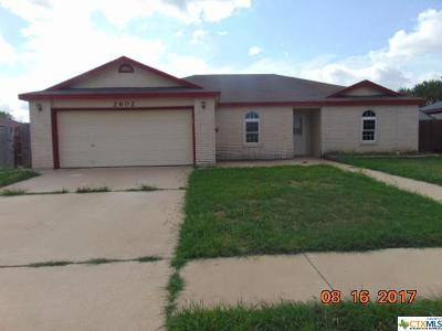 Killeen Single Family Home For Sale: 2602 Thoroughbred Drive