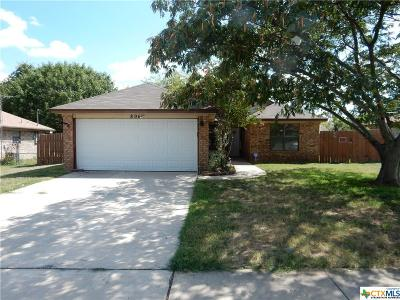 Killeen Single Family Home For Sale: 806 Lisa Lane