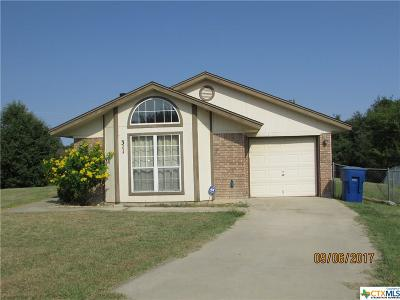 Copperas Cove Single Family Home For Sale: 311 Wagontrain Circle