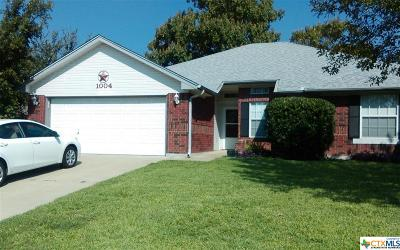 Copperas Cove Single Family Home Pending Take Backups: 1004 Kim Avenue