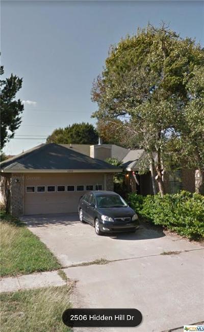 Killeen TX Single Family Home For Sale: $79,900