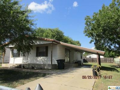 Killeen TX Single Family Home For Sale: $57,000
