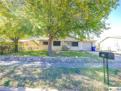 Copperas Cove TX Single Family Home For Sale: $55,000