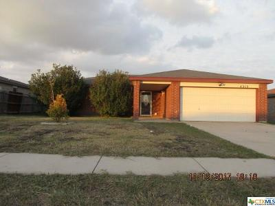 Killeen TX Single Family Home For Sale: $79,000