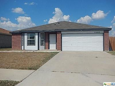 Killeen Single Family Home For Sale: 4609 Janelle Drive