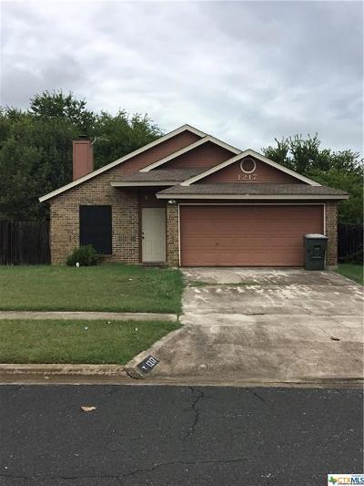 Killeen Single Family Home For Sale: 1217 Liberty Bell Loop