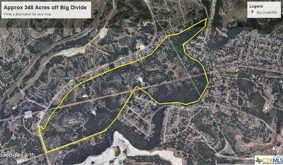 Copperas Cove Residential Lots & Land For Sale: 348.22 Acres Big Divide