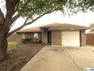 Killeen TX Single Family Home For Sale: $68,000