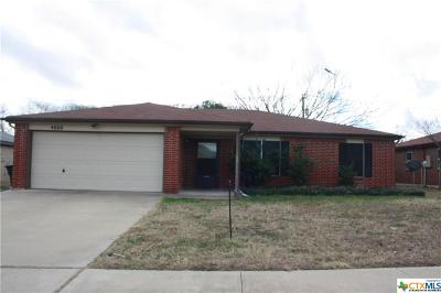Killeen Single Family Home For Sale: 4600 Stallion Drive