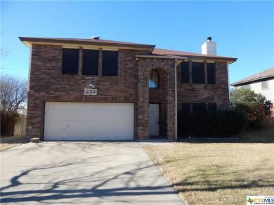 Copperas Cove Single Family Home For Sale: 222 January
