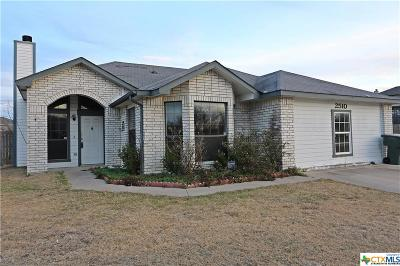 Killeen Single Family Home For Sale: 2510 Schulze Drive