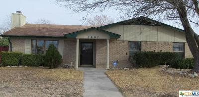 Killeen Single Family Home For Sale: 2607 Lohse