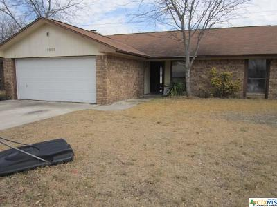 Killeen Single Family Home Pending Take Backups: 1908 Kenyon