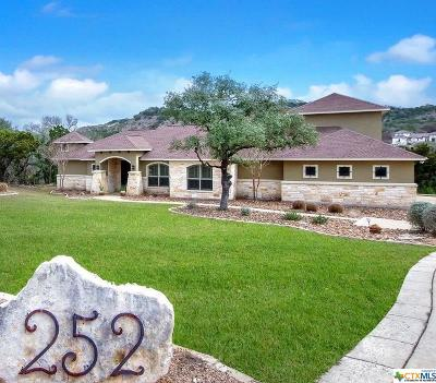 Canyon Lake Single Family Home For Sale: 252 Wilderness