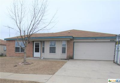 Killeen TX Single Family Home Pending Take Backups: $106,900