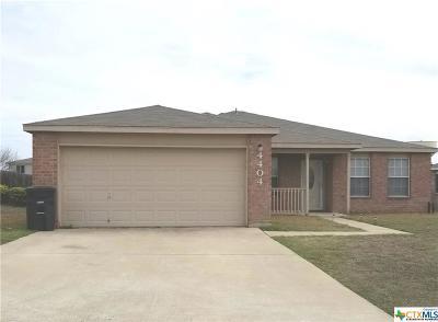 Killeen Single Family Home For Sale: 4404 Paintbrush Drive