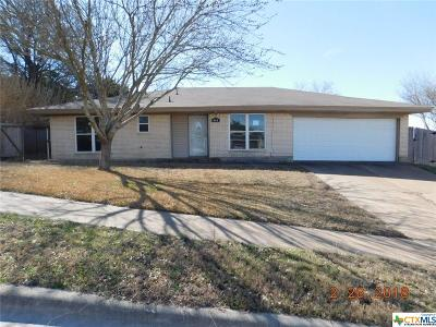 Copperas Cove TX Single Family Home For Sale: $103,000