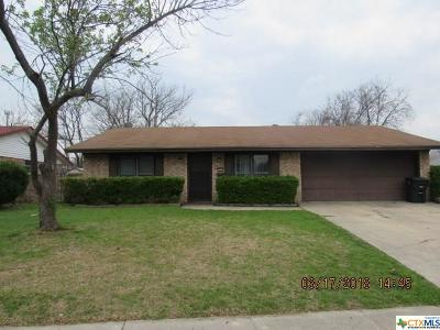Killeen TX Single Family Home For Sale: $92,000
