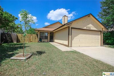 Killeen Single Family Home For Sale: 3705 Trotwood