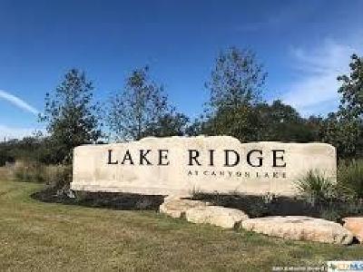 Canyon Lake Residential Lots & Land For Sale: 1623 Lake Ridge