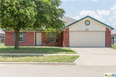 Killeen TX Single Family Home For Sale: $109,900