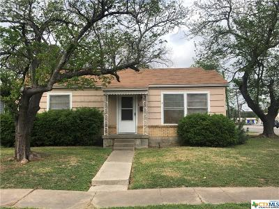 Belton TX Single Family Home For Sale: $75,000