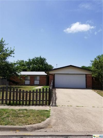 Killeen TX Single Family Home For Sale: $68,500