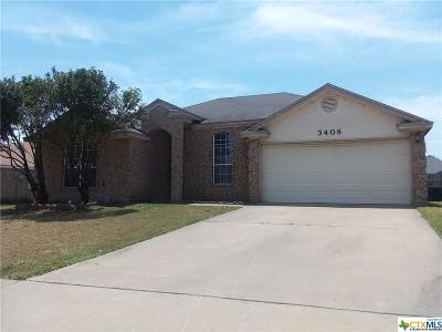 Killeen Single Family Home For Sale: 3408 Bamboo