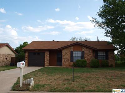 Harker Heights TX Single Family Home For Sale: $110,000