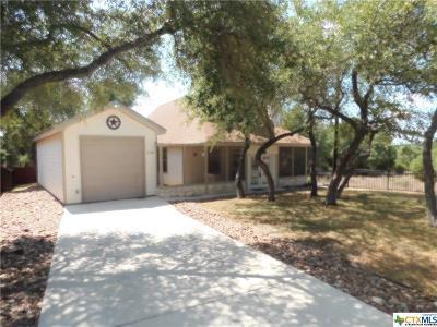 Canyon Lake Single Family Home For Sale: 1120 Canyon