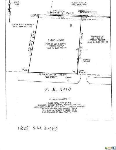 Harker Heights Residential Lots & Land For Sale: 1825 E Fm 2410
