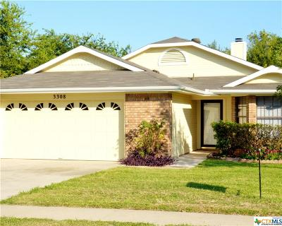 Killeen Single Family Home For Sale: 3308 Green Valley