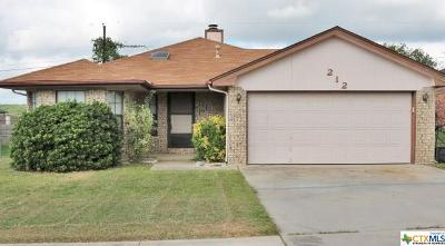 Copperas Cove Single Family Home For Sale: 212 Patterson