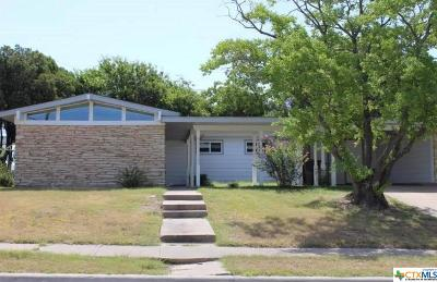 Killeen TX Single Family Home For Sale: $106,500