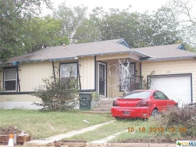 Killeen TX Single Family Home For Sale: $40,000