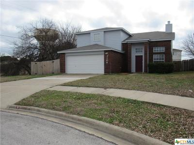 Killeen TX Single Family Home For Sale: $134,900