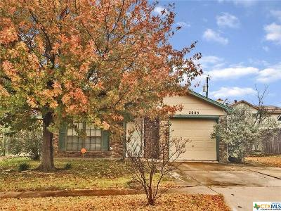 Killeen Single Family Home For Sale: 2605 Hemlock