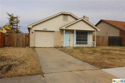 Killeen TX Single Family Home For Sale: $69,900