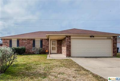 Killeen TX Single Family Home For Sale: $123,900