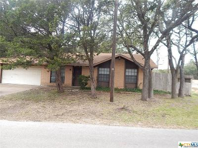Belton TX Single Family Home For Sale: $110,500
