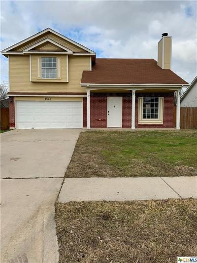 Killeen Single Family Home For Sale: 2603 Windmill Drive