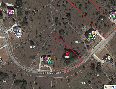 New Braunfels Residential Lots & Land For Sale: 1363 Bordeaux