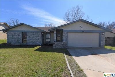 Killeen Single Family Home For Sale: 1704 Big Bend Drive