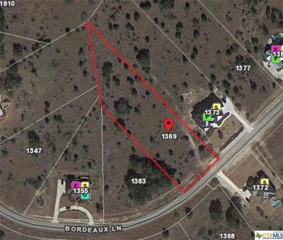 New Braunfels Residential Lots & Land For Sale: 1369 Bordeaux