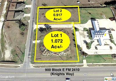 Harker Heights Commercial For Sale: 903 E Fm 2410 Highway #Lot 1
