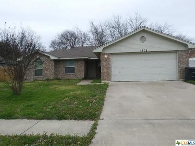 Killeen Single Family Home For Sale: 1808 Fleetwood Drive
