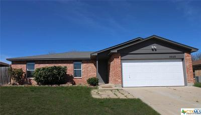 Killeen Single Family Home For Sale: 4509 Stallion Drive