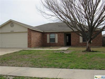 Killeen TX Single Family Home For Sale: $138,000